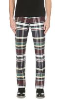 Thom Browne Checked Back-strap Trousers - Lyst