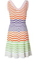 M Missoni Rainbow Knit Dress - Lyst