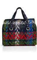 DSquared2 Woven Plaid Tote - Lyst