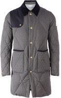 Moncler Gamme Bleu Padded Trench Coat - Lyst