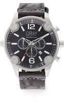 Saks Fifth Avenue Stainless Steel Leather Strap Watch - Lyst