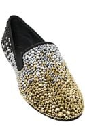 Giuseppe Zanotti Homme 10mm Gradient Embellished Suede Loafers - Lyst