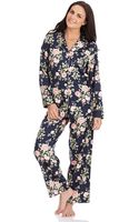 Lauren by Ralph Lauren Longsleeve Classic Pajama Set - Lyst