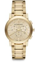 Burberry Goldtone Stainless Steel Chronograph Watch38mm - Lyst