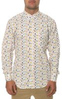 Naked & Famous The Cats  Dogs Long Sleeve Buttondown Shirt - Lyst