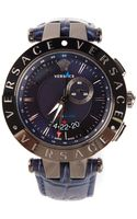 Versace V Race Gmt Alarm Watch - Lyst
