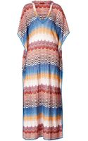 Missoni Mare Metallic Knit Caftan Dress - Lyst