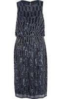 River Island Blue Sequin Embellished Midi Dress - Lyst