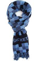 Hackett Blue Scarf Jacquard Block - Lyst