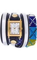 La Mer Collections Tan Guatemalan Wrap Watch - Lyst
