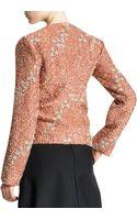 Jil Sander Confetti Floral Boucle Zip Jacket Terracotta - Lyst