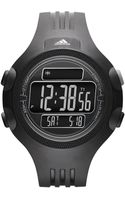 Adidas Performance Unisex Digital Questra Black Polyurethane Strap Watch 53mm - Lyst