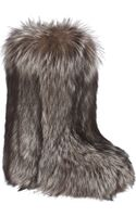 Liska Fox Fur Boot - Lyst