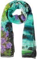 Julia Cocco' Multicolor Chiffon Silk Long Scarf - Lyst