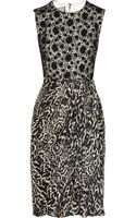 Giambattista Valli Lace and Printed Silkchiffon Dress - Lyst