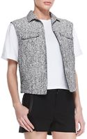 Rag & Bone Trucker Tweed Fourpocket Vest - Lyst