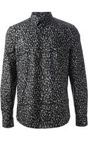 PS by Paul Smith Blurred Letter Print Shirt - Lyst