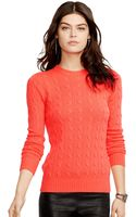 Polo Ralph Lauren Crew-neck Cable-knit Cashmere Sweater - Lyst