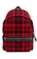 Saint Laurent Tartan Backpack - Lyst