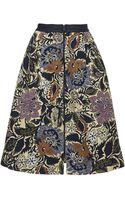 Topshop Kirada Jacquard Midi Skirt  Multi - Lyst