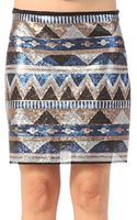 Date Mini Skirt - Lyst