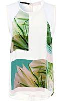 Tibi Fiore Di Cactus Sleeveless Top - Lyst