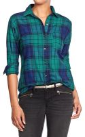 Old Navy Plaid Flannel Boyfriend Shirts - Lyst