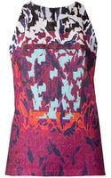 Peter Pilotto Water Orchid Print Top - Lyst