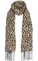 Lipsy Leopard Scarf - Lyst