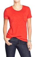 Old Navy Slubknit Crew Pocket Tees - Lyst