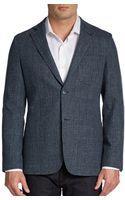 Saks Fifth Avenue Black Glenplaid Wool Tweed Sportcoat - Lyst