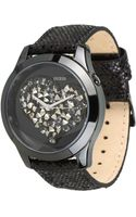 Guess Crystal Heart Watch - Lyst