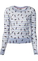 Sonia By Sonia Rykiel Striped Lipstick Sweater - Lyst