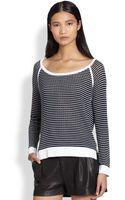 Rag & Bone Arianna Raglansleeved Ribbed Striped Sweater - Lyst