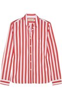 Maison Kitsuné Striped Cotton Shirt - Lyst