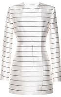 Emilia Wickstead Cream and Black Stripe Irune Dress - Lyst