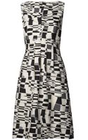 Lela Rose Sleeveless Check Jacquard Dress - Lyst