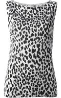 Saint Laurent Animal Print Vest Top - Lyst