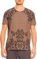 Dolce & Gabbana Short-sleeve Baroque-print Tee - Lyst