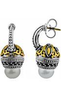 Konstantino Spinel  Pearl Huggie Earrings - Lyst