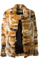 Saint Laurent Multicolor Fox Fur Jacket - Lyst