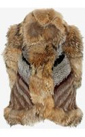 Elizabeth And James Robby Patched Rabbitcoyote Fur Vest - Lyst