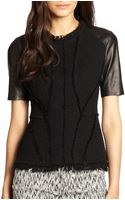 Rebecca Taylor Tweed Structured Top - Lyst