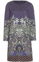 Etro Printed Jersey Dress - Lyst