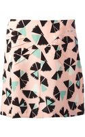 Marc By Marc Jacobs Fan Print Skirt - Lyst