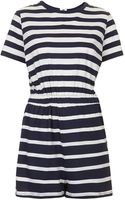 Topshop Stripe Tshirt Playsuit - Lyst