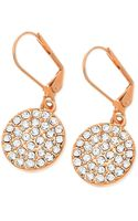 T Tahari 14k Rose Goldplated Pavé Crystal Drop Earrings - Lyst