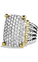 David Yurman Wheaton Ring with Diamonds and Gold - Lyst