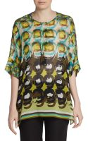 Lafayette 148 New York Selene Printed Tunic Top - Lyst