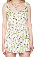 Pixie Market Its Bananas Playsuit - Lyst